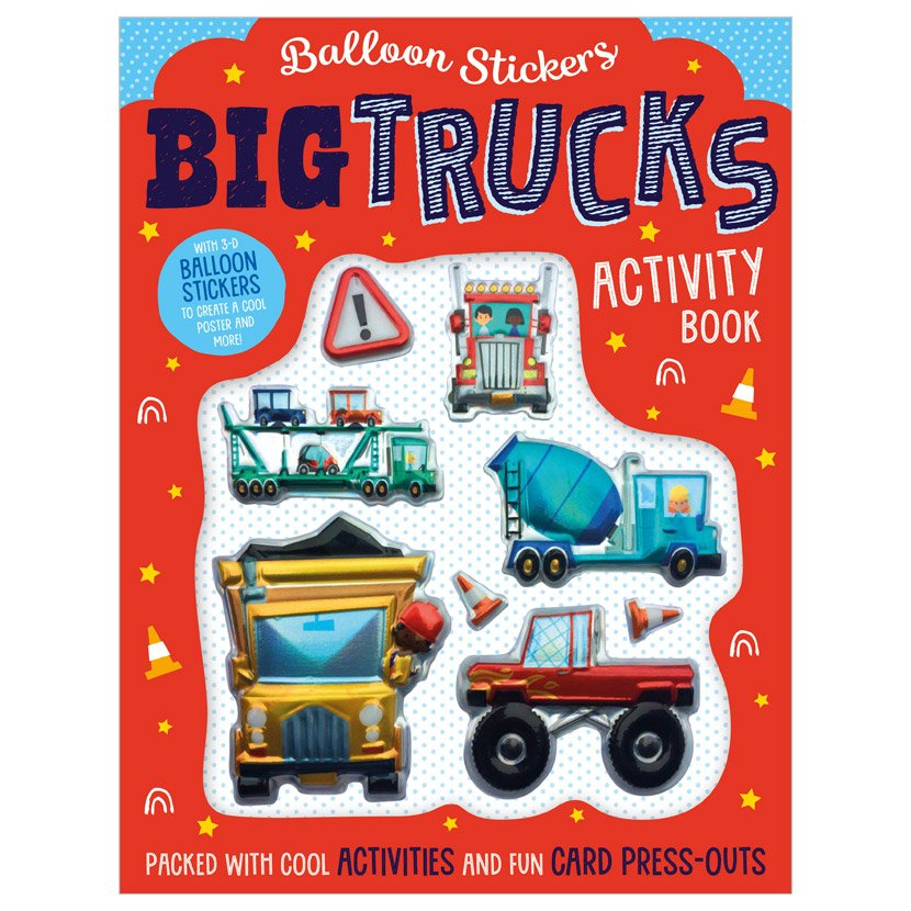 First Spread of Balloon Stickers Big Trucks Activity Book (9781800581739)