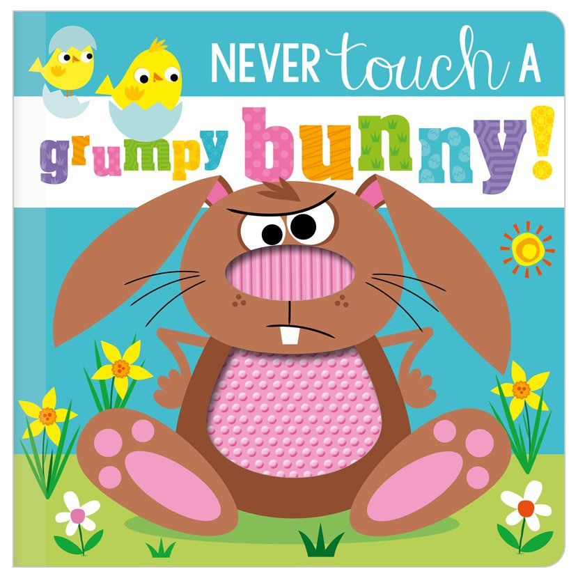 First Spread of Never Touch a Grumpy Bunny! (9781800582682)