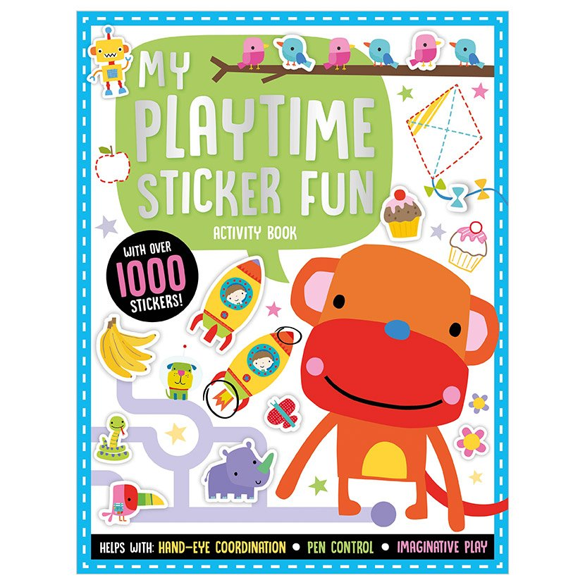 First Spread of Playtime Learning My Playtime Sticker Fun Activity Book (9781800581425)