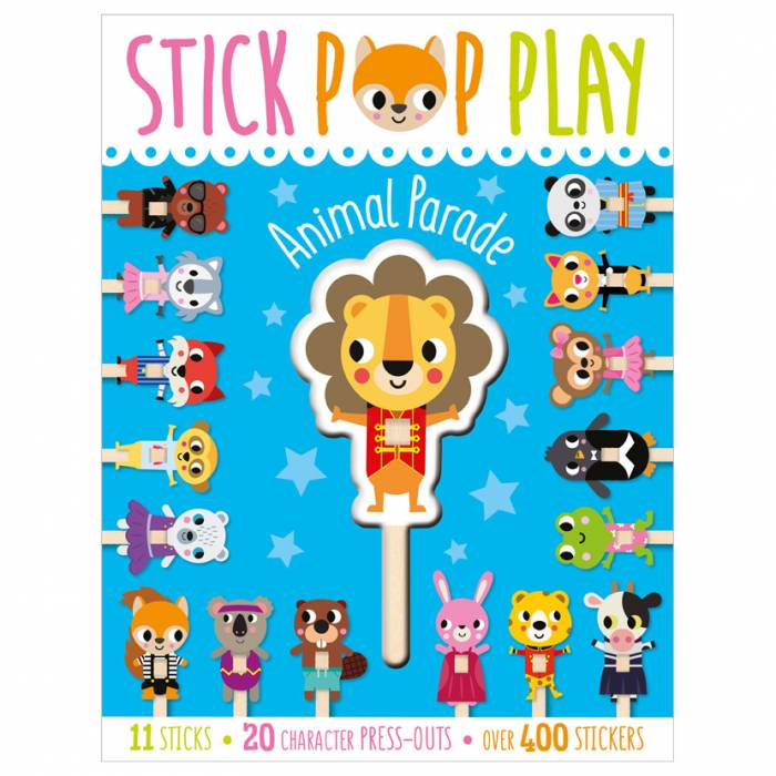 First Spread of Stick Pop Play Animal Parade (9781800581913)